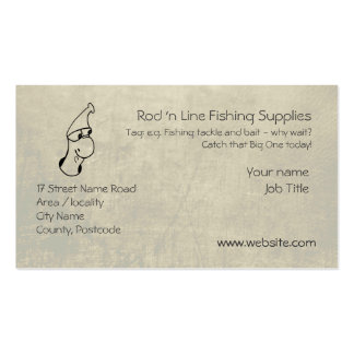 Cute Worm - Fishing Tackle Supplier template Pack Of Standard Business Cards