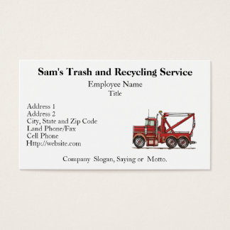 Cute Wrecker Truck Business Card
