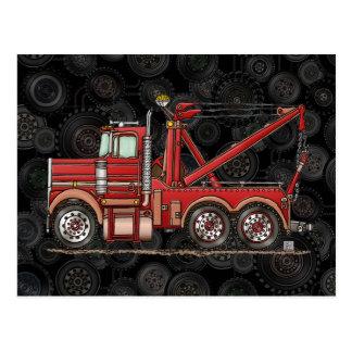 Cute Wrecker Truck Postcard