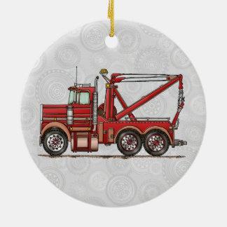 Cute Wrecker Truck Round Ceramic Decoration