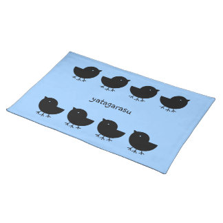 Cute Yatagarasu(black) Place Mats