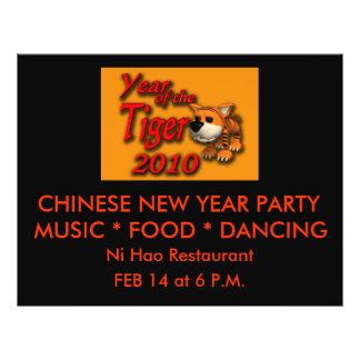 Cute Year of the Tiger 2010 Cartoon Art 21.5 Cm X 28 Cm Flyer
