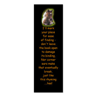 Cute Yearling Foal bookmarks Pack Of Skinny Business Cards