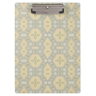 Cute Yellow and Gray Vintage Geometric Clipboard