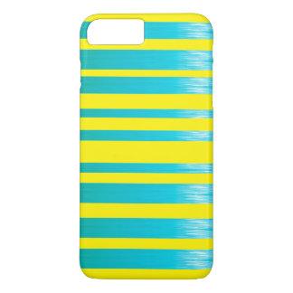 Cute yellow aqua stripes iPhone 8 plus/7 plus case
