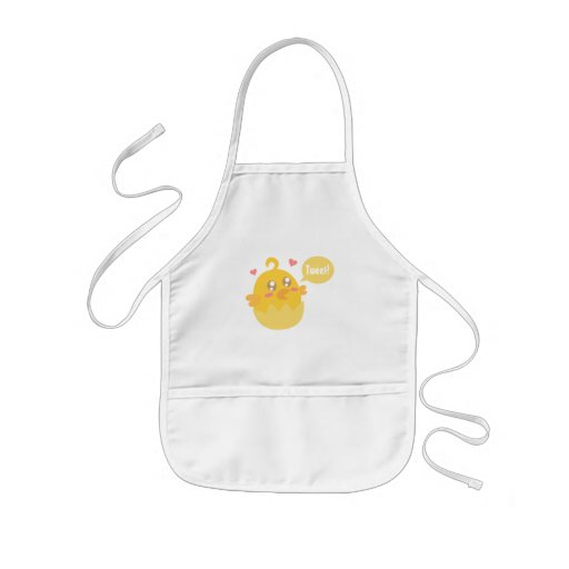 Cute Yellow Baby Chick in Egg Shell Aprons