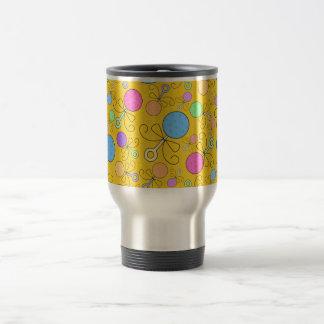 Cute yellow baby rattle pattern mug