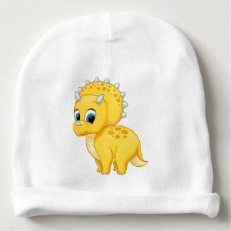 Cute Yellow Baby Triceratops Dinosaur Baby Beanie