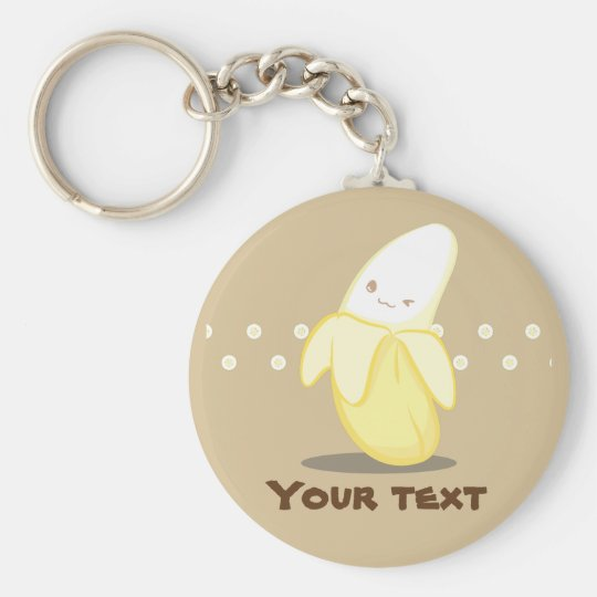 Cute Yellow Banana Keychain