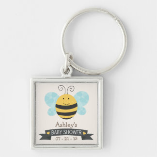 Cute Yellow & Black Bee Baby Shower Key Chains