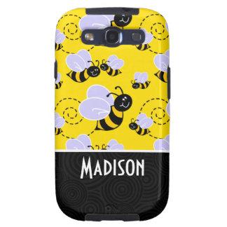 Cute Yellow & Black Bee Samsung Galaxy SIII Cases
