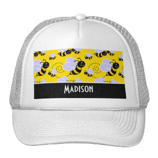 Cute Yellow Black Bee Hats