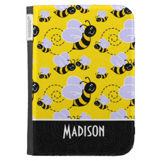Cute Yellow Black Bee Kindle Keyboard Case
