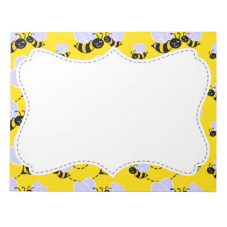 Cute Yellow & Black Bee Notepad
