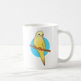 Cute Yellow Budgie Coffee Mug