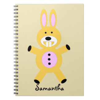 Cute Yellow Bunny personalized notebook