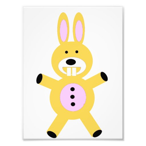 Cute yellow bunny photographic print