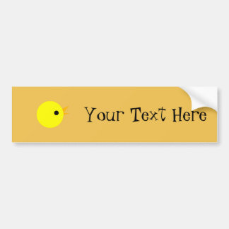 Cute Yellow Chick Head Bumper Sticker