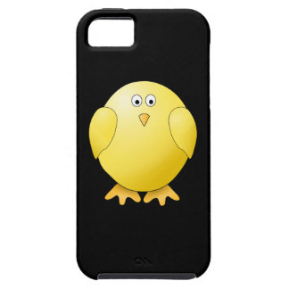 Cute Yellow Chick. Little Bird on Black. iPhone 5 Case