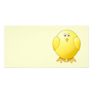 Cute Yellow Chick. Little Bird. Photo Greeting Card