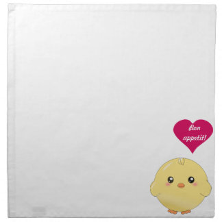 Cute yellow chick napkin