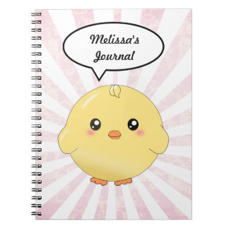 Cute yellow chick notebook