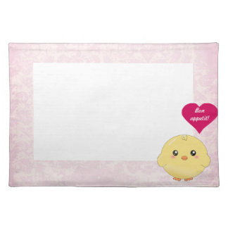 Cute yellow chick placemat