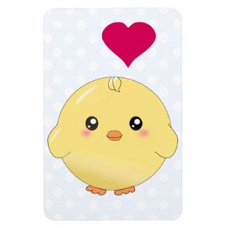 Cute yellow chick rectangular magnets