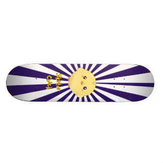 Cute yellow chick skateboard