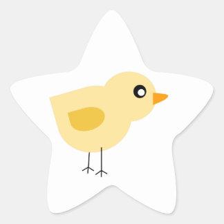 Cute Yellow Chick Star Sticker