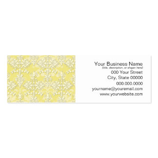 Cute Yellow Damask Pack Of Skinny Business Cards