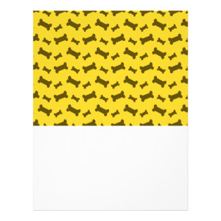 Cute yellow dog bones pattern 21.5 cm x 28 cm flyer