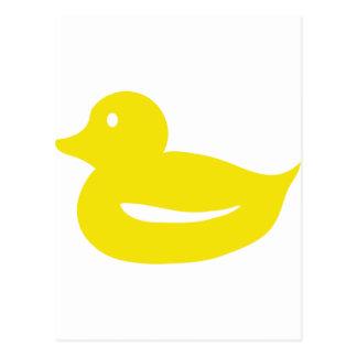 cute yellow duckling duck postcard
