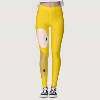 Cute Yellow Face Workout Leggings