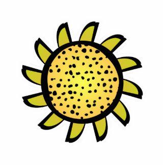 Cute Yellow Flower Magnet Photo Sculptures