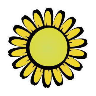 Cute Yellow Flower Magnet Acrylic Cut Out