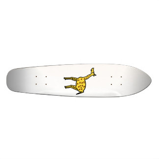 Cute yellow giraffe 21.6 cm old school skateboard deck