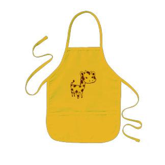 Cute Yellow Giraffe Craft Cooking Apron
