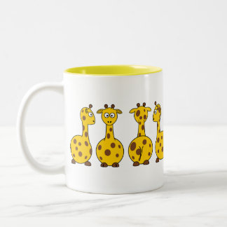 Cute Yellow Giraffe Pattern Mug