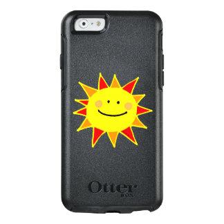 cute yellow happy sun cartoon OtterBox iPhone 6/6s case