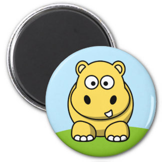 Cute Yellow Hippo Magnet