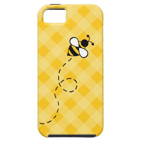 Cute Yellow Honey Bee iPhone Case