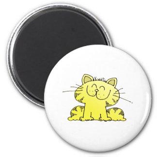 Cute Yellow Kitten Magnet