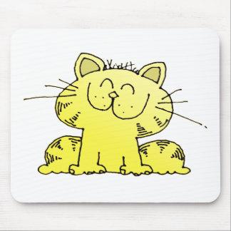 Cute Yellow Kitten Mouse Pad