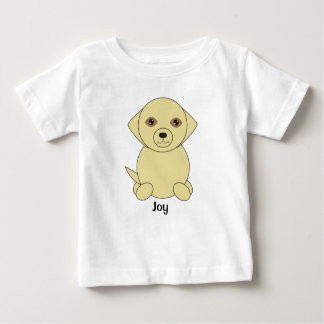 Cute Yellow Lab Dog Personalise Baby T-Shirt