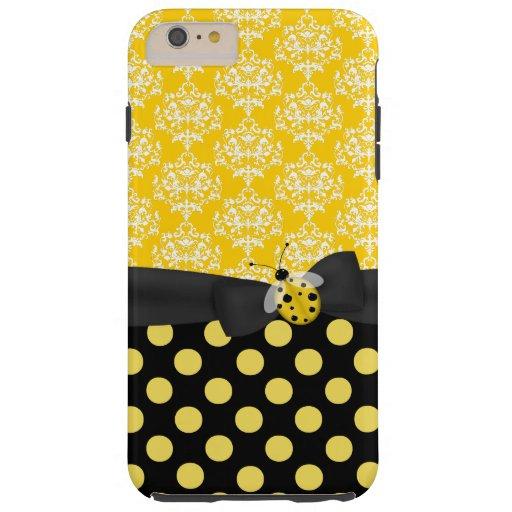 Cute Yellow Ladybug iPhone 6 Plus case
