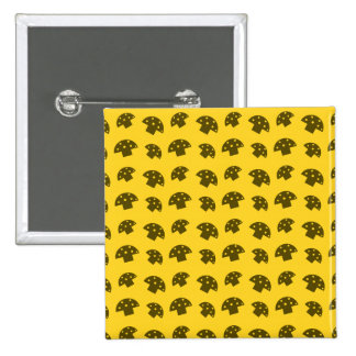 Cute yellow mushroom pattern 15 cm square badge