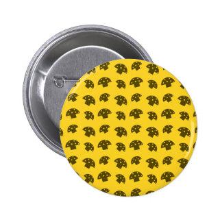 Cute yellow mushroom pattern 6 cm round badge