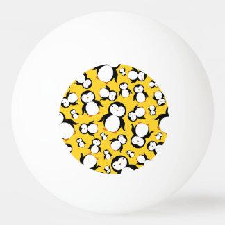 Cute yellow penguin pattern Ping-Pong ball