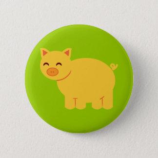 Cute Yellow Piggy 6 Cm Round Badge